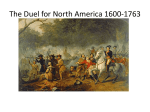 The Duel for North America 1600-1763