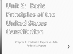 Unit 2: Basic Principles of the United States