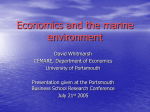 Economics and the Marine Environment
