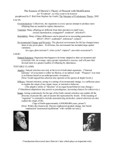 The Essence of Darwin`s Theory of Descent with Modification
