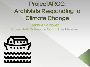ProjectARCC: Archivists Responding to Climate Change