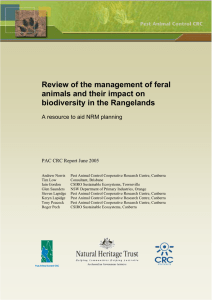 Review of the management of feral animals and their impact on