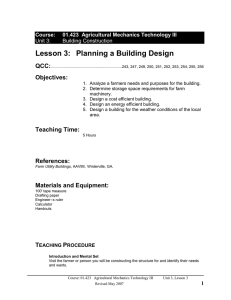 01423-03.3 Planning a Building Design