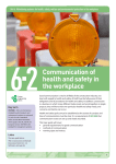 Topic guide 6.2 Communication of health and safety