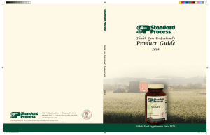 Product Guide - Standard Process