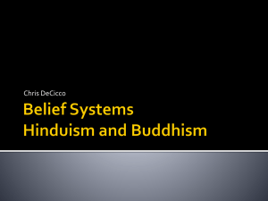 Belief Systems Buddhism and Hinduism