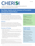 Fact Sheet: Quality of Life Outcomes in Prescription and Injection