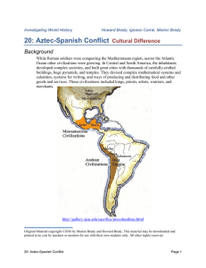 20: Aztec-Spanish Conflict Cultural Difference