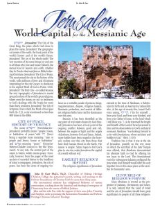 World Capital for the Messianic Age