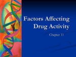 Factors Affecting Drug Activity