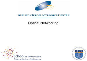 Unit 1.7 Optical networking and processing