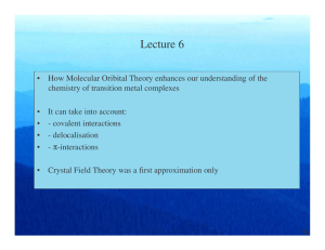 Lecture 6 - TCD Chemistry