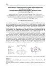 Stereochemistry of hexacoordinated transition metal complexes with