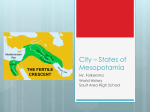 City * States of Mesopotamia