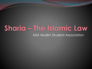 Sharia * The Islamic Law - Muslim Alliance of New York