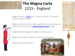 The Magna Carta 1215-