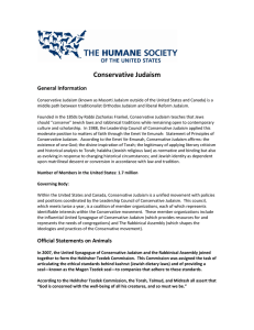 Conservative Judaism - The Humane Society of the United States
