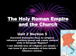 WHPP Unit 2 Section 5 The Holy Roman Empire to The Crusades