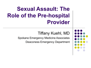 Sexual Assault: the role of the pre-hospital