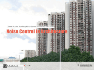 Noise Control through Architectural Design