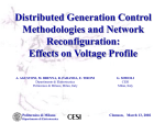 Distributed Generation Control Methodologies and Network