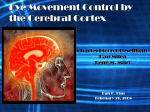 Eye Movement Control by the Cerebral Cortex Charles Pierrot