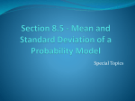 Mean and Variance of a Random Variable