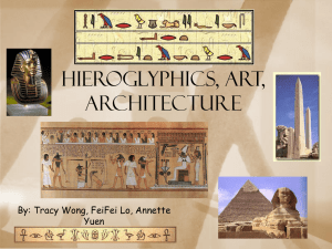 HIEROGLYPHICS, ART, ARCHITECTURE