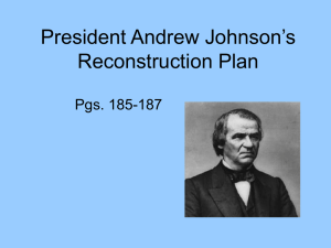 President Johnson and Reconstruction