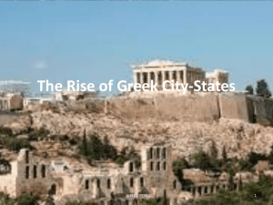 The Rise of Greek City-States
