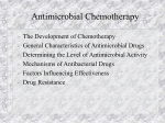 Antimicrobial Chemotherapy