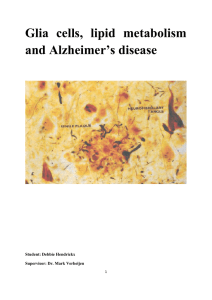 Glia cells, lipid metabolism and Alzheimer`s disease