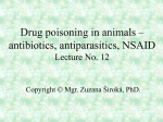 Drugs poisoning in animals (antibiotics, antiparasitics, NSAID etc.)