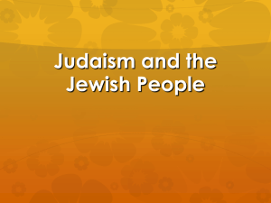 Judaism and the Jewish People