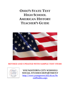 ohio`s state test high school american history teacher`s guide