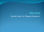 Alcohol - SanfordChemistry