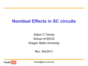 Nonideal Effects in SC circuits