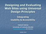 Designing and Evaluating Websites Using Universal Design