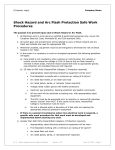 Shock Hazard and Arc Flash Protection Safe Work Procedures