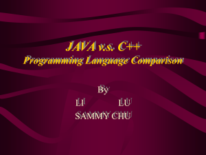 JAVA vs C++ Programming Language Comparison