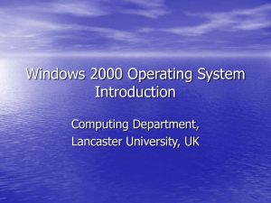 Windows 2000 OS Introduction