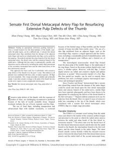 Sensate First Dorsal Metacarpal Artery Flap for Resurfacing