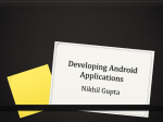 Developing Android Applications