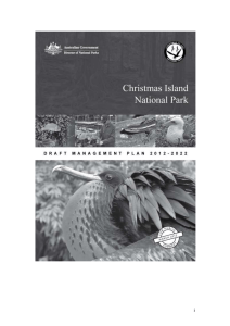 Christmas Island National Park Draft Management Plan 2012-2022