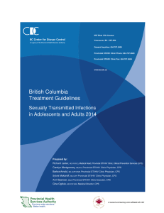 British Columbia Treatment Guidelines: Sexually Transmitted