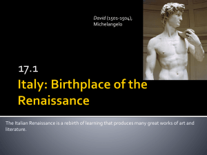 chapter 1 italy birthplace of the renaissance