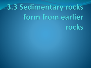 3.3 Sedimentary rocks form from earlier rocks