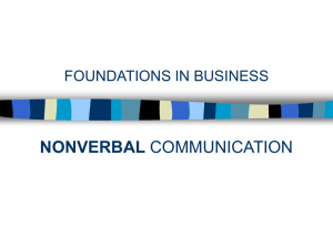 Nonverbal Communication Foundations in Business