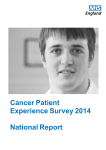Cancer Patient Experience Survey 2014 National
