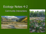 Ecology Notes 4-2